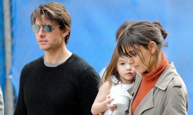 Tom Cruise i Kate Homles z córką Suri