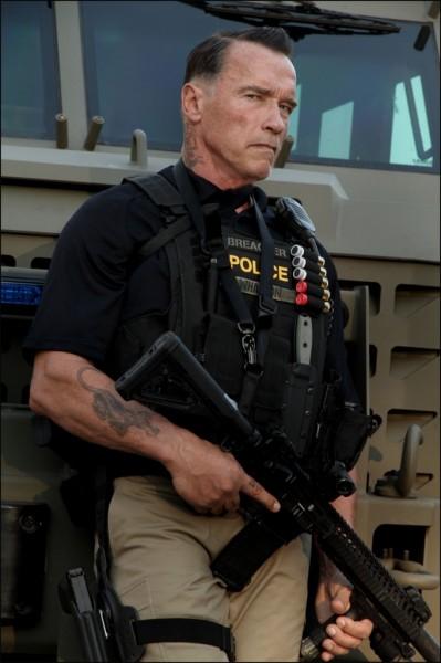 Arnold Schwarzenegger na planie filmu 'Ten'