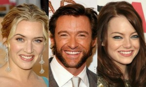Kate Winslet, Hugh Jackman, Emma Watson w filmie Movie 43