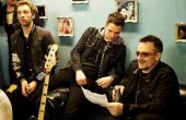 Chris Martin w studiu z U2
