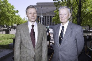 Krzysztof Pieczyński i prof. Zbigniew Brzeziński