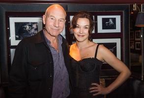 Patrick Stewart z żoną