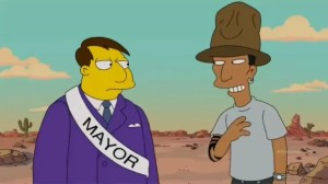 Pharrell Williams z Simpsonami